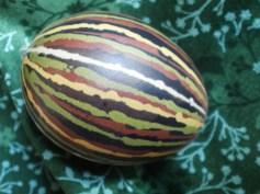 coloured with wax batik technique