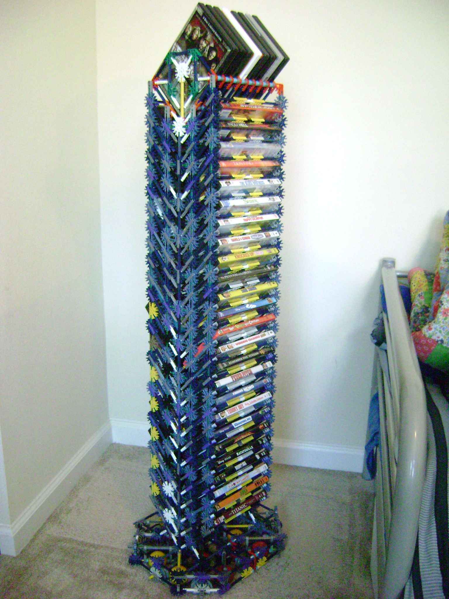 Rotating Bluray  DVD Tower  THE KNEX KORNER