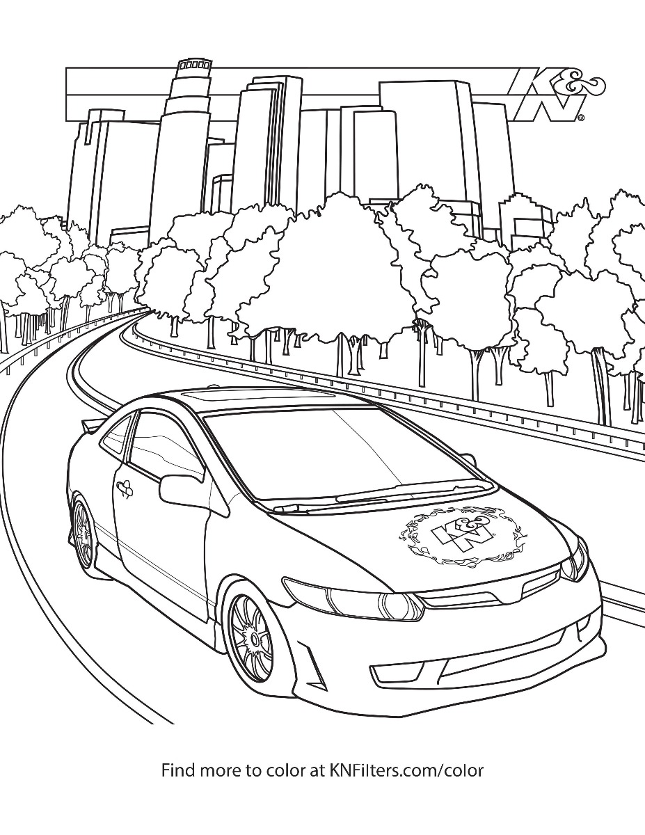 Honda Civic Coloring Pages : honda, civic, coloring, pages, Printable, Coloring, Pages
