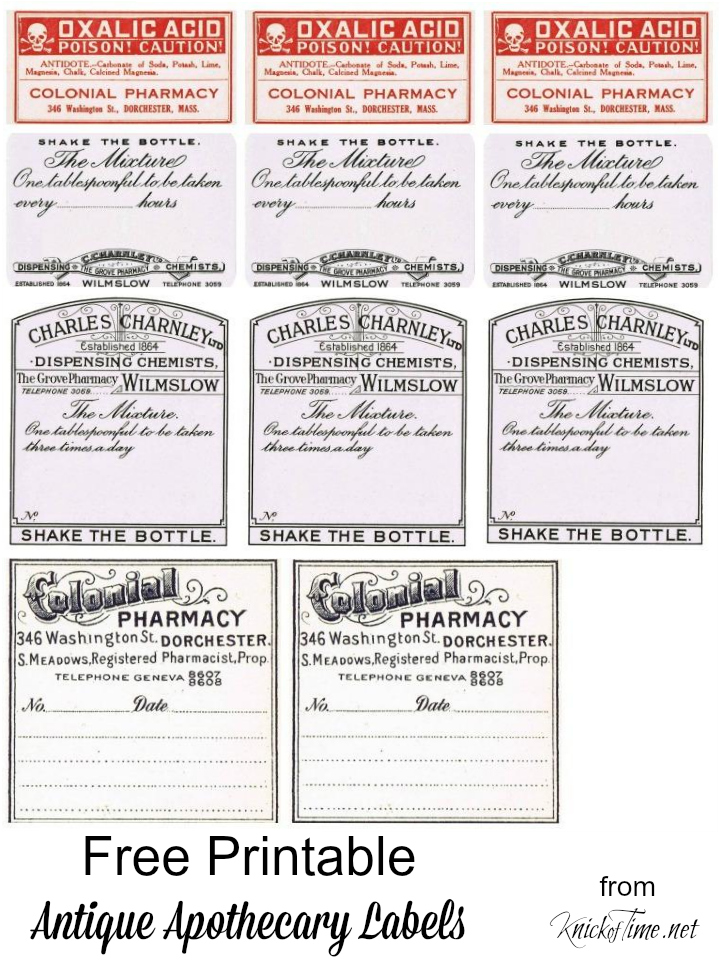Antique Graphics Wednesday  Vintage Pharmacy Labels