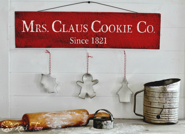 Rustic Sign For Christmas 12 Days Of Christmas Day 5