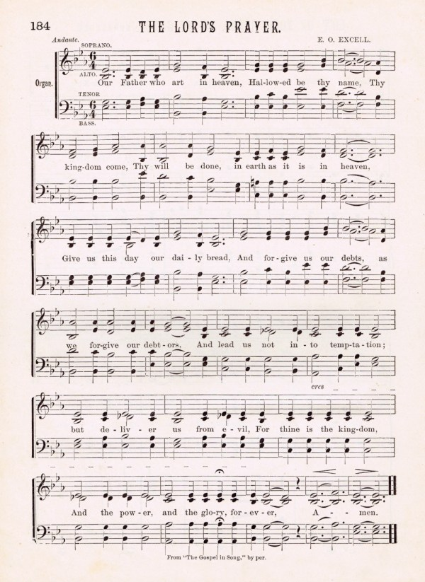 The Lords Prayer Antique Hymn Page Printable Knick of Time