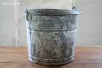 Galvanized Bucket Makeover - Knick of Time