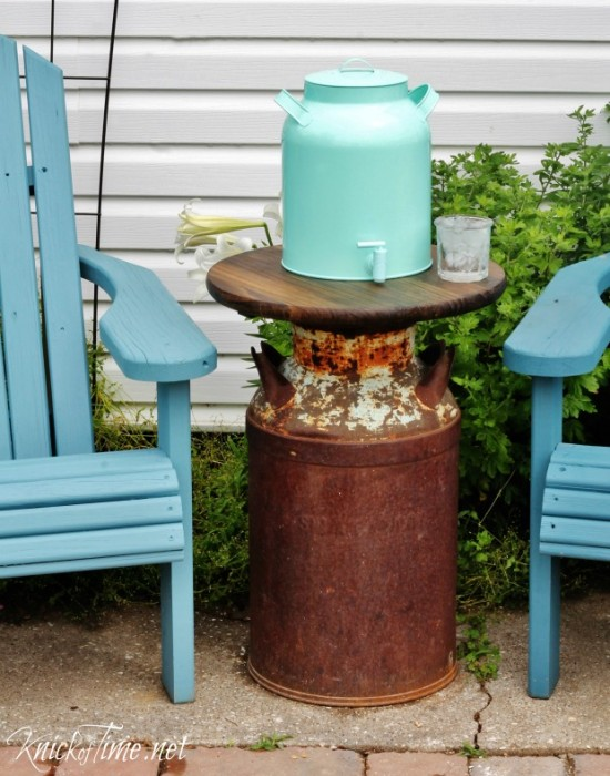 How To Make A Farmhouse Milk Can Patio Table Knick Of Time