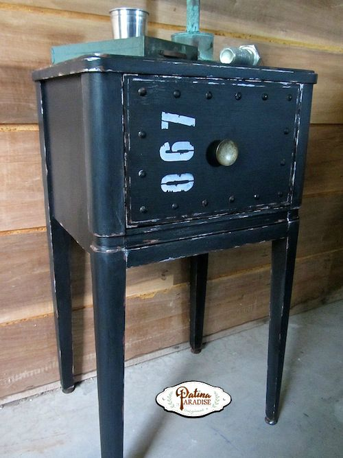 Faux Metal Nightstand Makeover