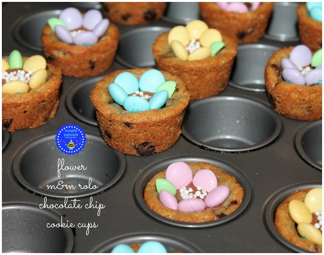 flower m&m rolo chocolate chip cookie-cups - ToT15