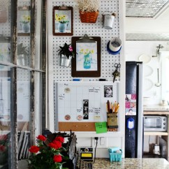 Kitchen Pegboard Rentals Command Center Organizer Knick Of Time Create A Wall That Looks As Pretty It Is Functional Knickoftime
