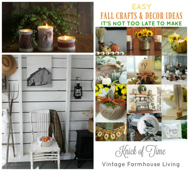 Fall crafts and home decor - www.knickoftime.net