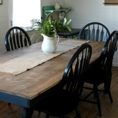 Farmhouse Kitchen Tables Remodelling Black And White Update Knick Of Time