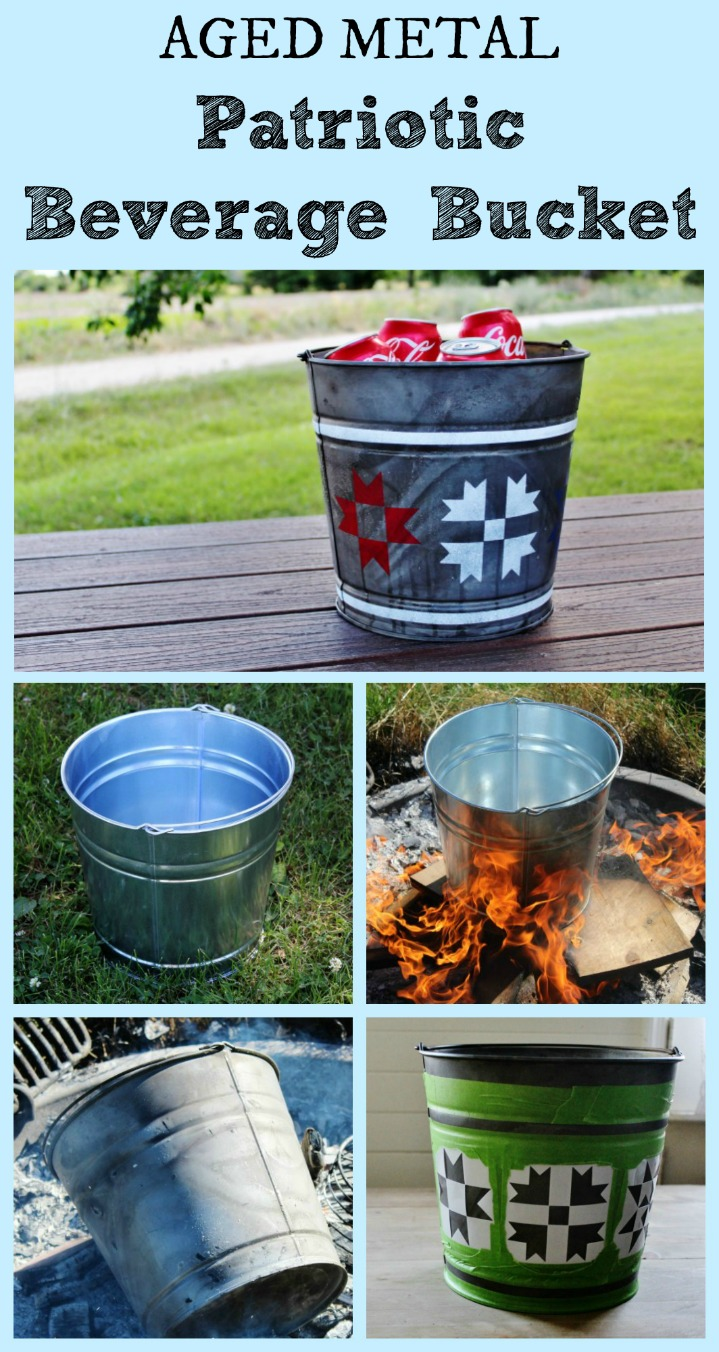 How to Make Galvanized Metal Look Old & Patriotic Barn