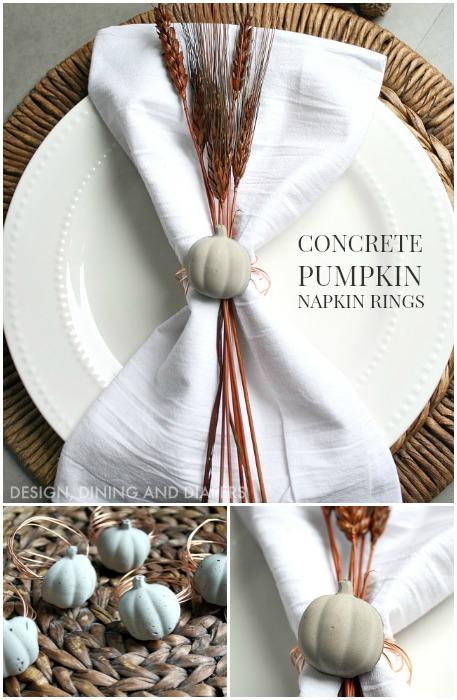 Concrete and Copper Pumpkin Napkin Rings