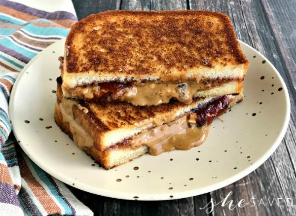 Grilled Peanut Butter & Jelly Sandwich