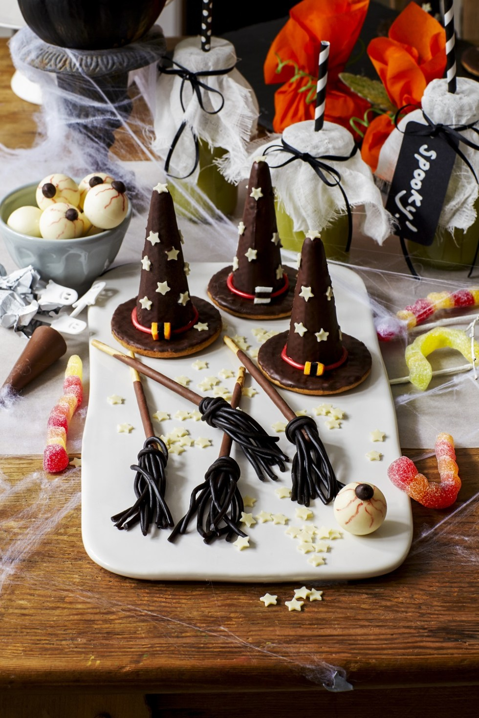 Witches' Hats And Broomsticks by