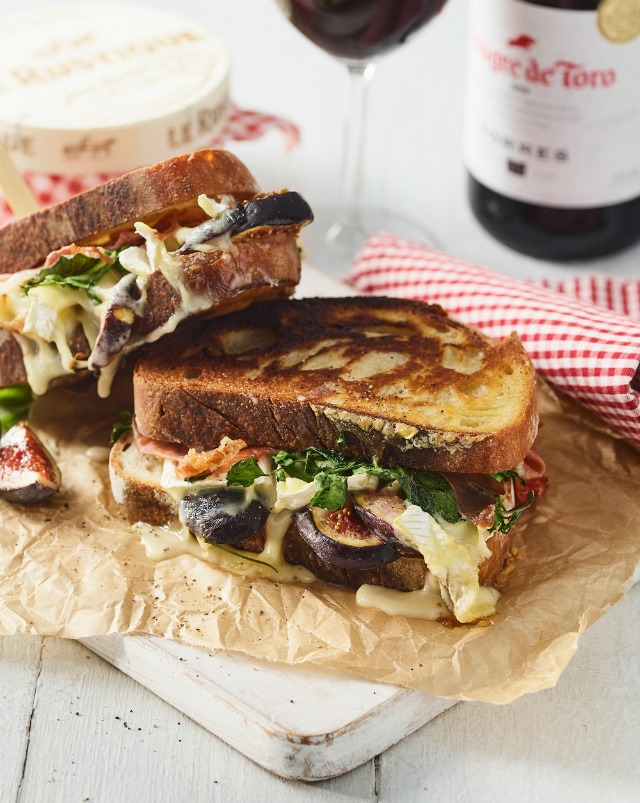 Fig and Basil Sourdough Toastie by Claire Justine