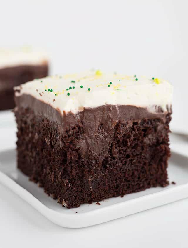 Chocolate Guinness Poke Cake
