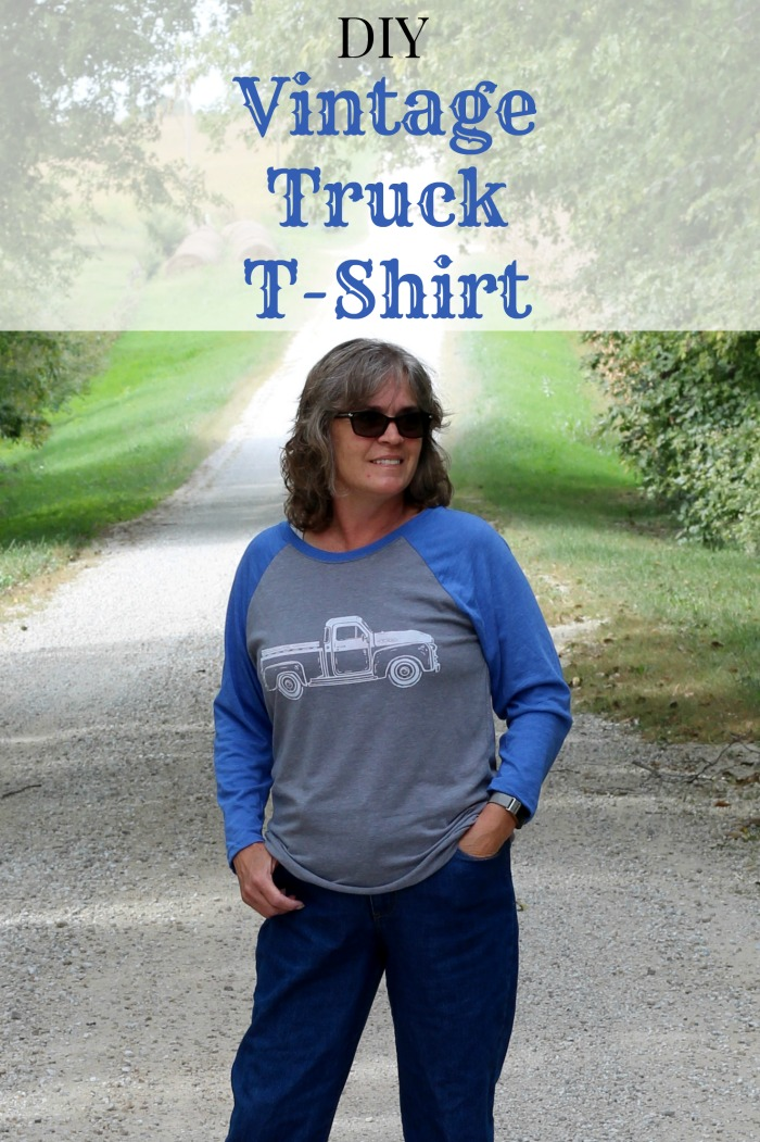 How To Make A Diy Vintage Truck Diy T Shirt Chalking