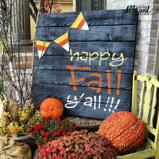 Happy Fall Y'all Pallet Sign