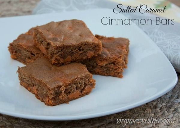 Salted Caramel Cinnamon Bars