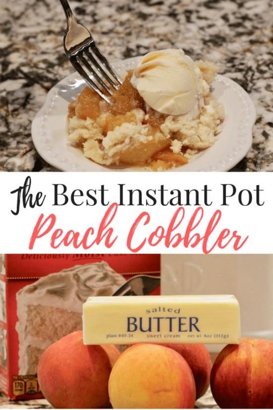 The Best Instant Pot Fresh Peach Cobbler