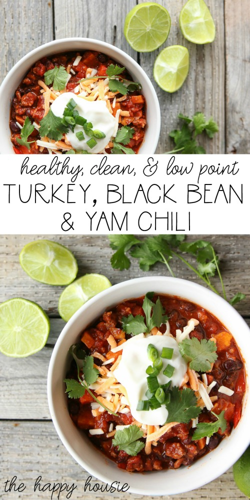 Healthy & Delicious Turkey, Black Bean, & Yam Chili The Happy Housie