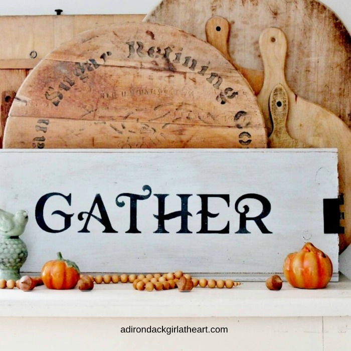 Farmhouse Gather Sign for the Holidays