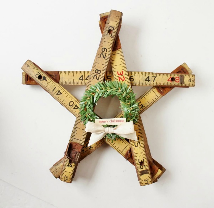 How to Create Vintage Christmas Star Decorations by Adirondack Girl at Heart