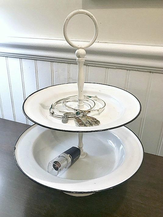 DIY Enamelware Tiered Tray