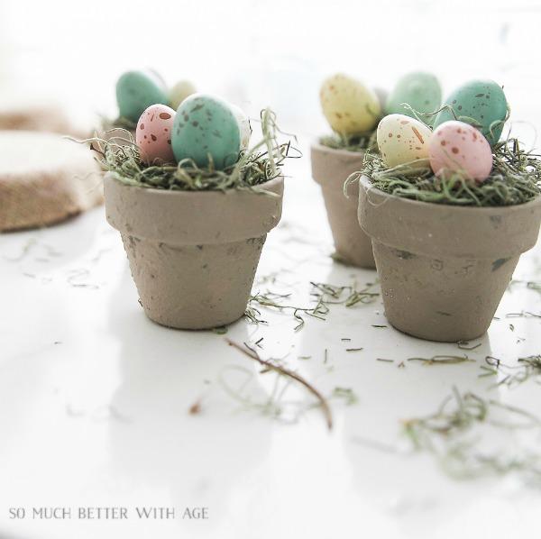 DIY Bird's Nest Pots