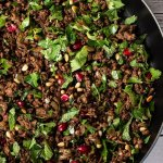 middle eastern lamb mince in a pan