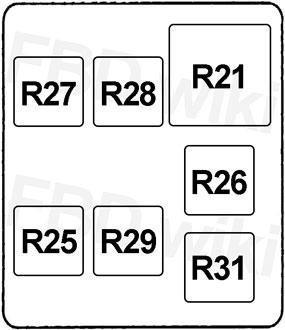 '99-'06 Mitsubishi Pajero, Montero & Shogun Fuse Diagram