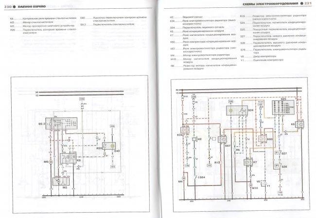 Схемы электрооборудования Daewoo Espero 1991-2000 (Третий