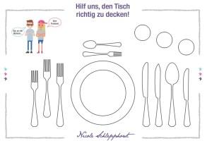 Tischset zum Ausmalen › Knigge Trainerin Nicole Schlepphorst