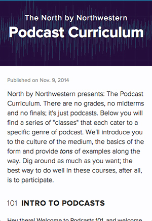 alex duner's podcast curriculum