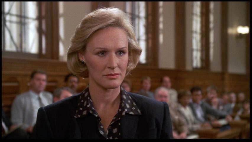 The defender: Teddy Barnes (Glenn Close)