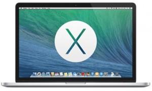 OS X Mavericks' new background on Apple's famous Macbook Pro. Photo: http://assets.gearlive.com/blogimages