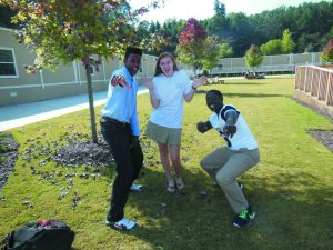 New juniors Elijah, Cassady, and Chase are excited for their first year at Pace.  Photo: Julia Beck