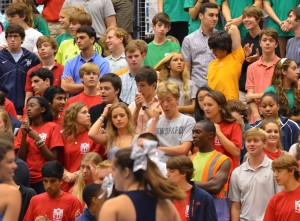 Students were less than enthused for the most recent pep rally. Photo: Fred Assaf