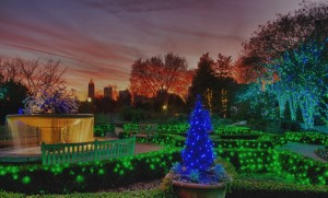 The Atlanta Botanical Garden is considered one of the best places in the city to see Christmas lights. Photo: http://riverbum.blogspot.com
