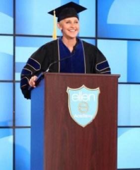 Ellen DeGeneres presents her speech to the Class of 2016.