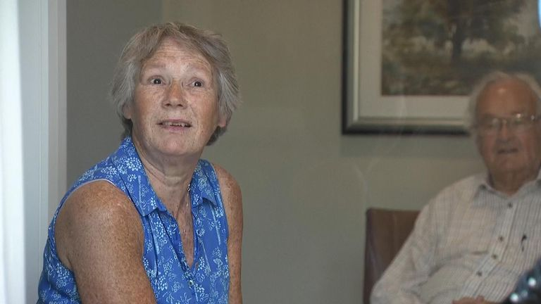 'The next best thing to a hug': Care home uses glass screen to let residents see loved ones