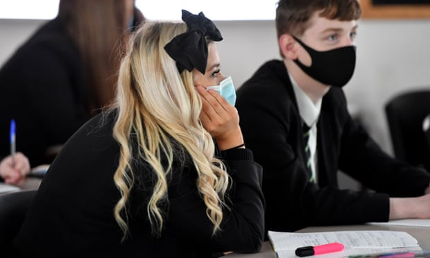 Dozens of schools in English Covid hotspots reintroduce mask rules