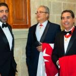 Ambassadors James Angleton, Jr. & Manny Gonzalez huddle with Commander, Sir Thomas Kato, S. FL and US Priori. Valetta, Malta 2019