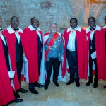 Prince Jose huddles with Knights of Malta (Africa) Contingency Valetta, Malta 2019