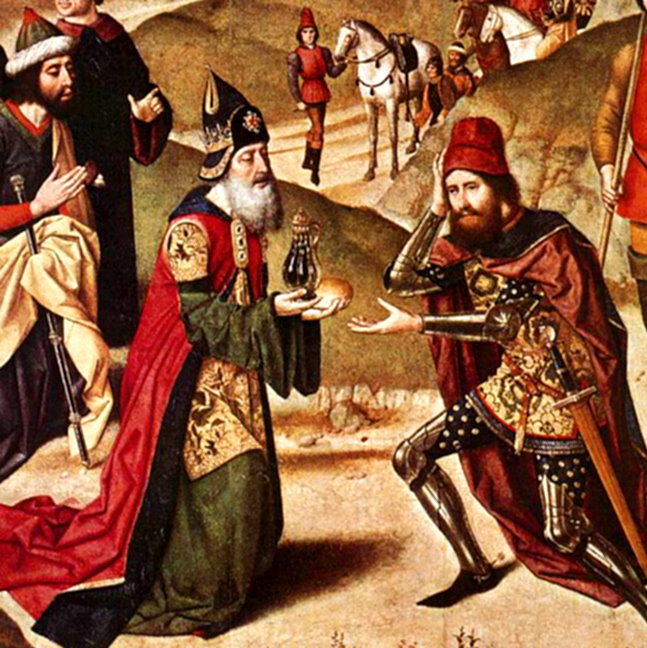 Painting: Meeting of Melchizadek and Abraham (ca.1466 AD)