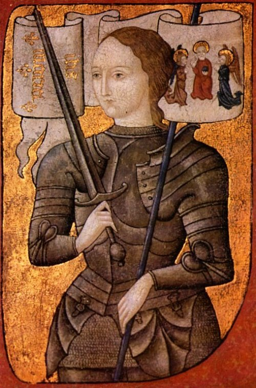Joan of Arc (ca.1450 AD) Centre Historique des Archives Nationales, Paris, No.AE II 2490