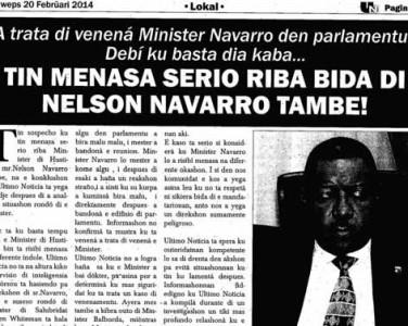 Navarro's leven in gevaar
