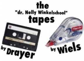 De Dr. Nelly Winkelschool tapes Dick Drayer - Marvelyne Wiels. Cartoon: Pa Stechi