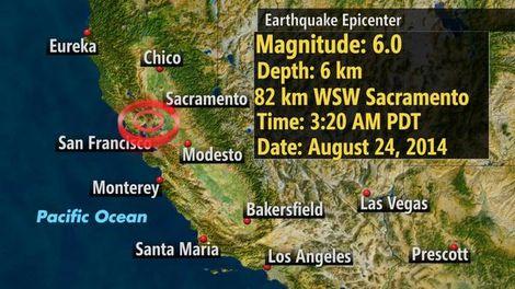 Aardbeving in de VS