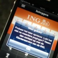 ING kampt met storing in mobiel- en internetbankieren