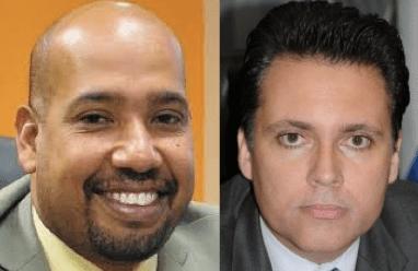 Ministers van Financien: George Jamaloodin (Kabinet Schotte) en Jose Jardim (Kabinet Asjes)